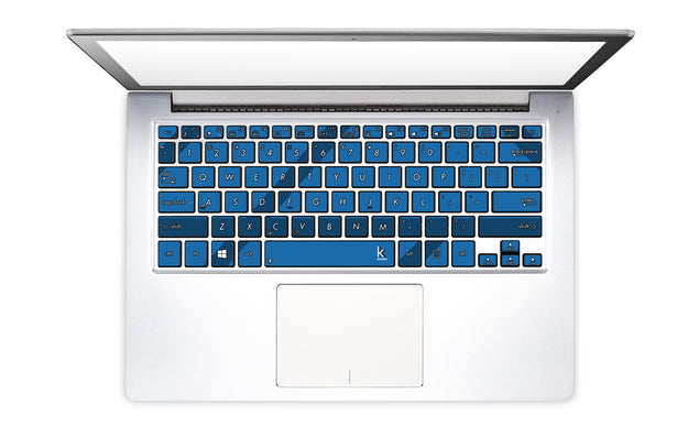 Simple blue lines Laptop Keyboard Stickers