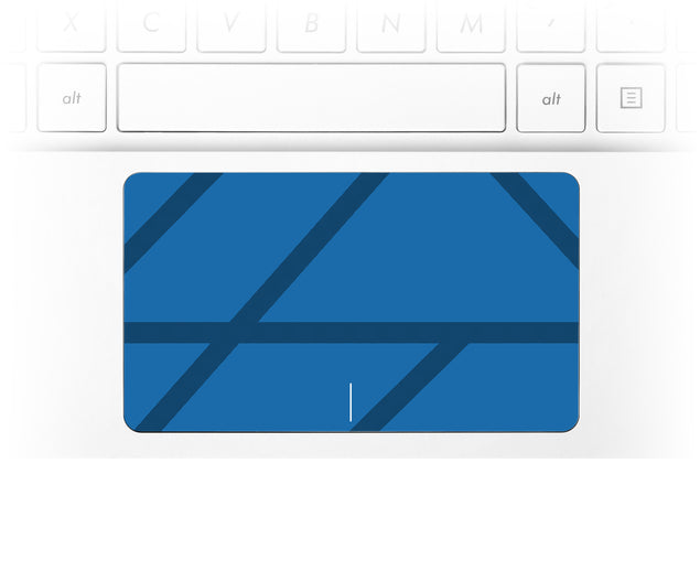 Simple blue lines Laptop Trackpad Sticker