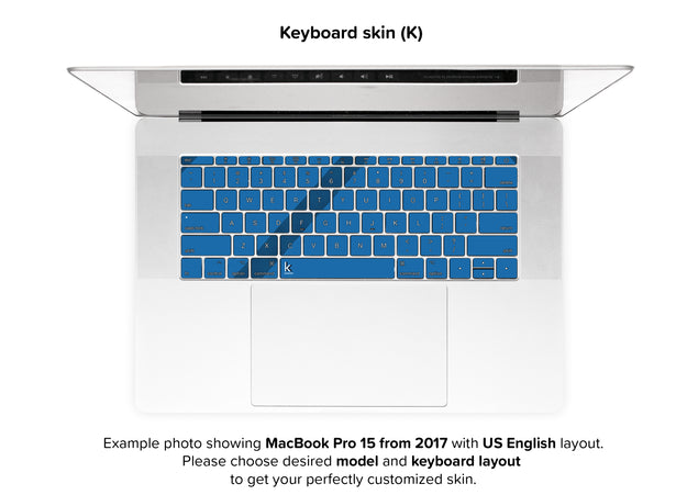Simple blue lines MacBook Skin - keyboard stickers