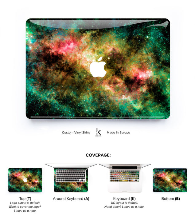 Colorful Galaxy MacBook Skin at Keyshorts.com