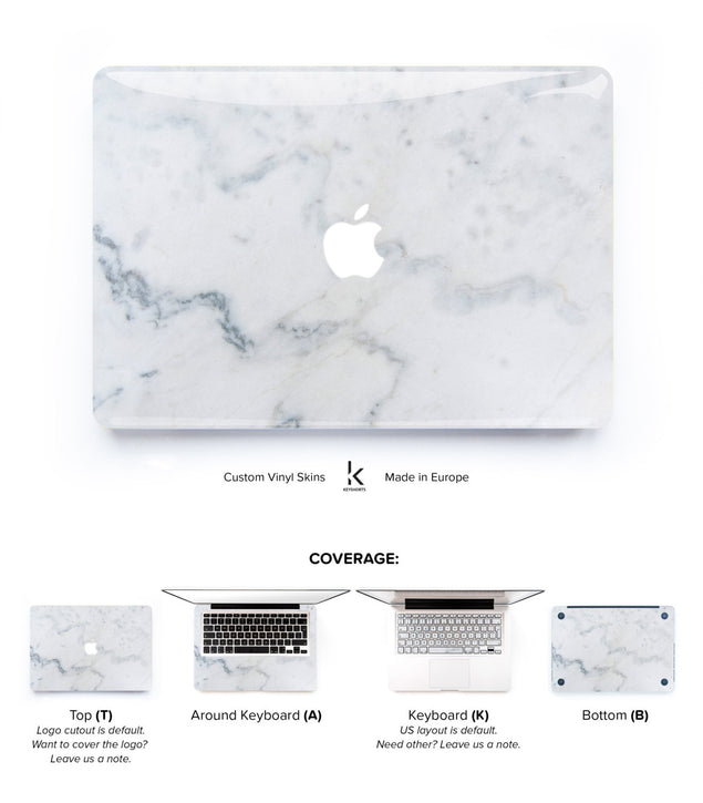 Cream Marble MacBook Skin at Keyshorts.com - 1