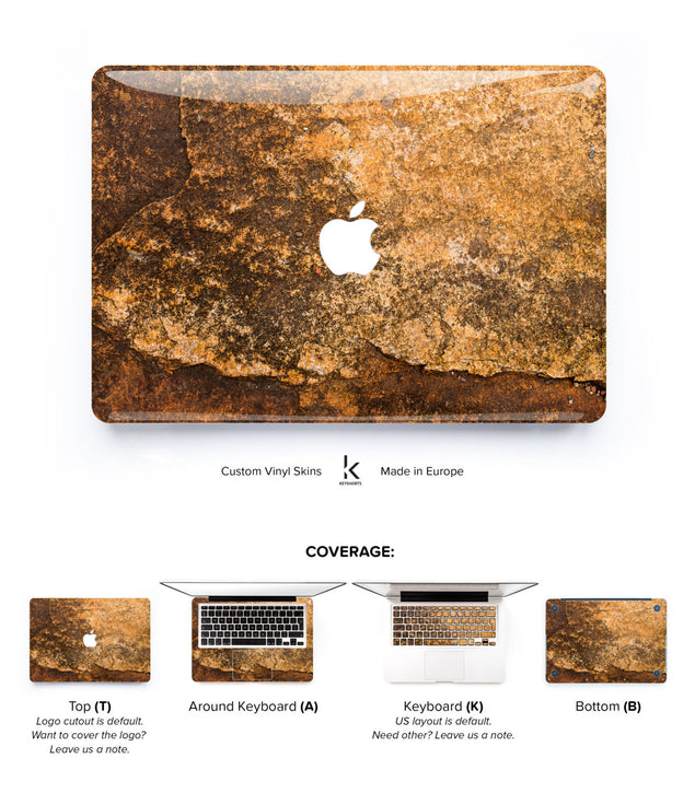 Gold Copper MacBook Skin at Keyshorts.com