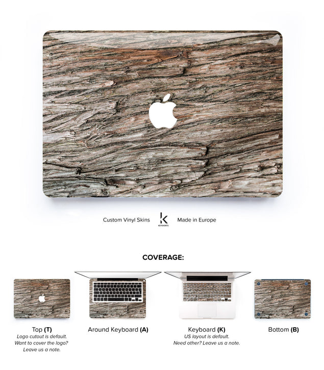 Grey Wood MacBook Skin at Keyshorts.com