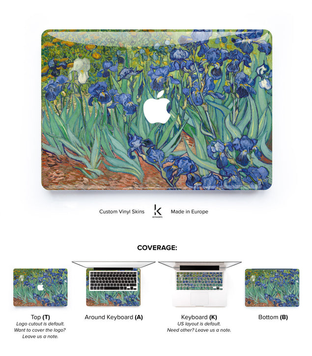 Van Gogh Irises MacBook Skin at Keyshorts.com
