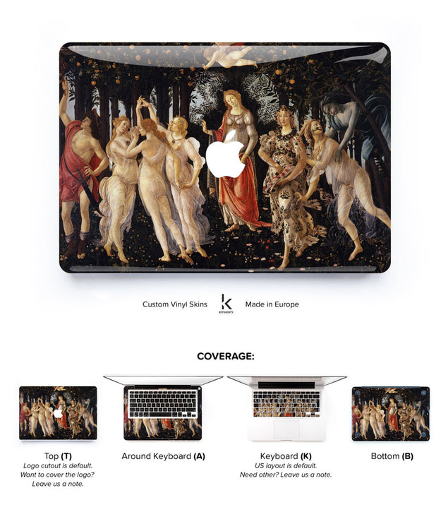 Primavera MacBook Skin at Keyshorts.com
