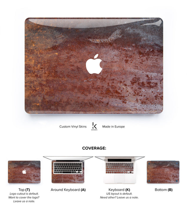 Rusty Steampunk MacBook Skin at Keyshorts.com