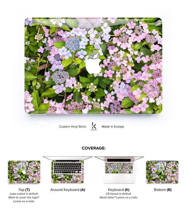 Summer Flowers MacBook Skin at Keyshorts.com