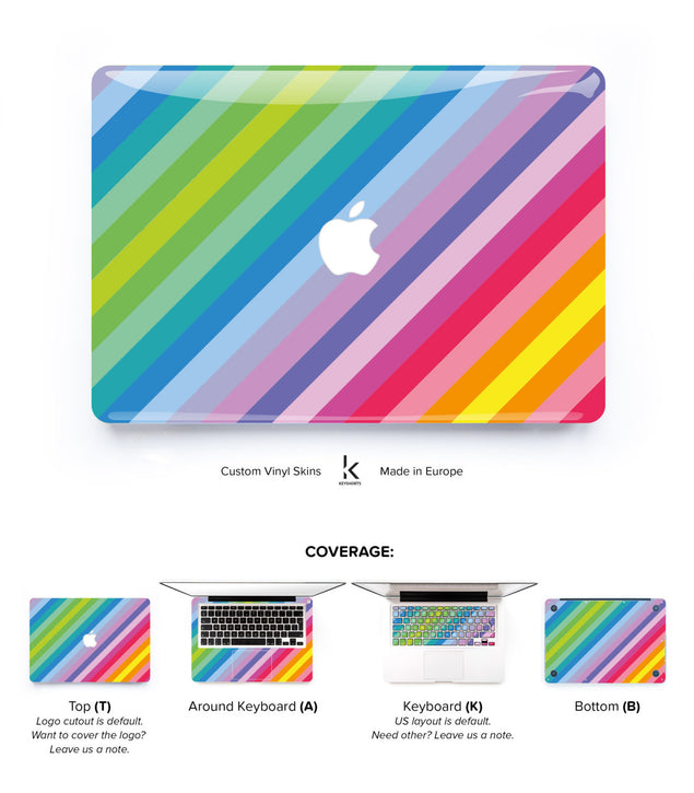 Turbocolor MacBook Skin at Keyshorts.com