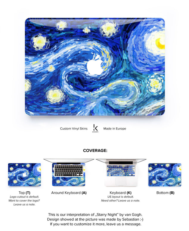 Van Gogh Dreams no. 2 MacBook Skin at Keyshorts.com