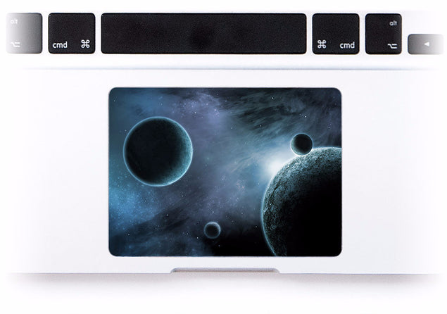 Space Odyssey in Blue MacBook Trackpad Sticker at Keyshorts.com