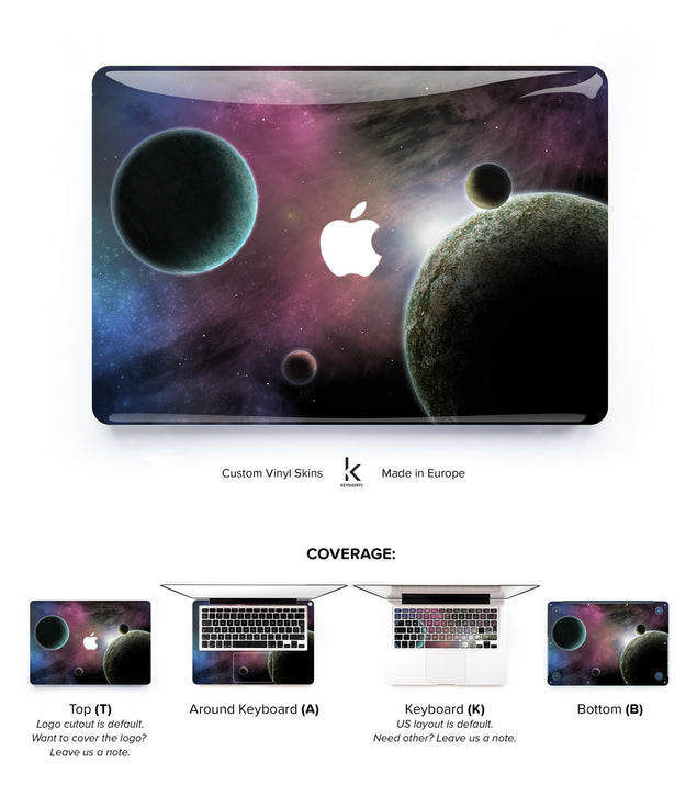 Space Odyssey in Purple MacBook Skin at Keyshorts.com