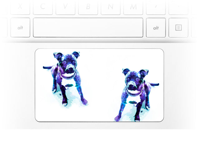Staffy Dust Laptop Trackpad Sticker
