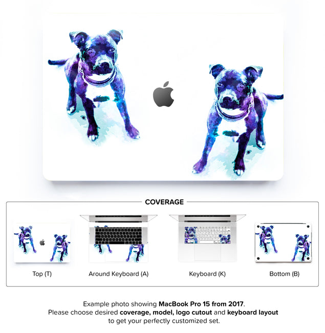 Staffy Dust MacBook Skin