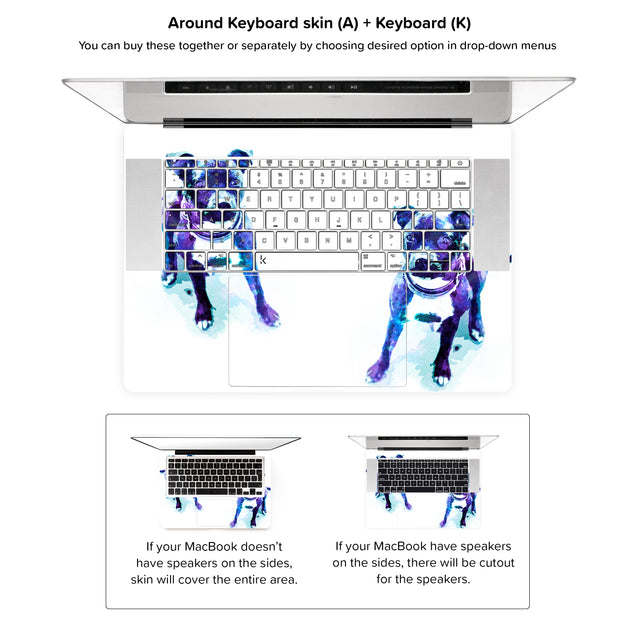 Staffy Dust MacBook Skin - around keyboard skin