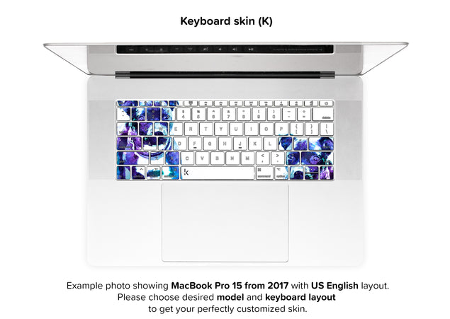 Staffy Dust MacBook Skin - keyboard stickers