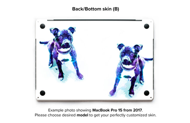 Staffy Dust MacBook Skin - back skin