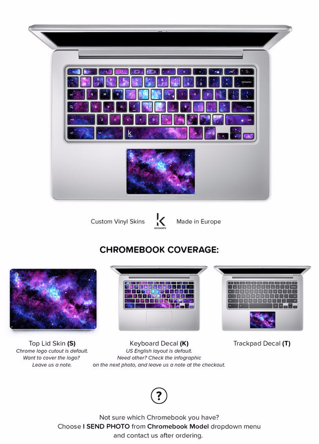 Stardust Chromebook Skin at Keyshorts.com