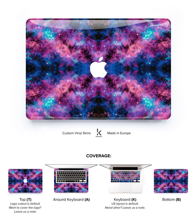 Stardust in Your Eyes MacBook Skin at Keyshorts.com - 1