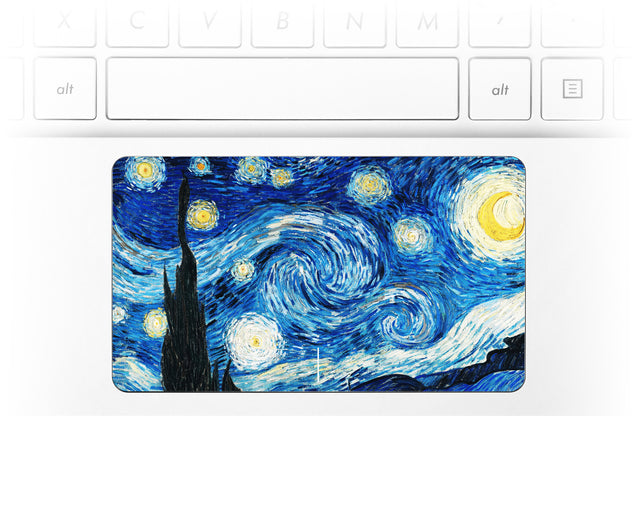 Van Gogh Starry Night Laptop Trackpad Sticker