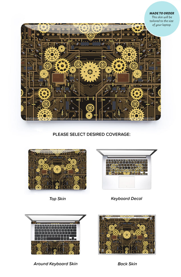 Steampunk Laptop Skin