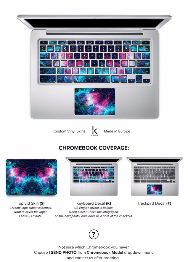 Stellar Chromebook Skin at Keyshorts.com