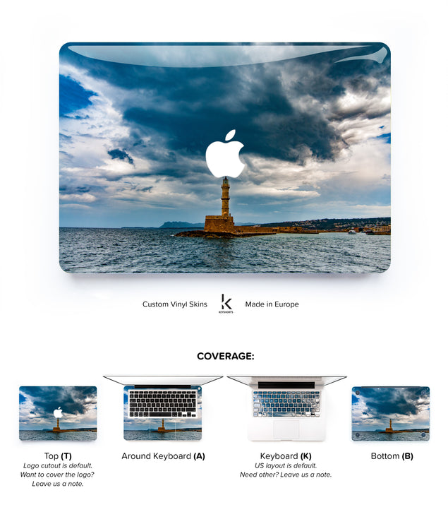 Stormy Lighthouse MacBook Skin