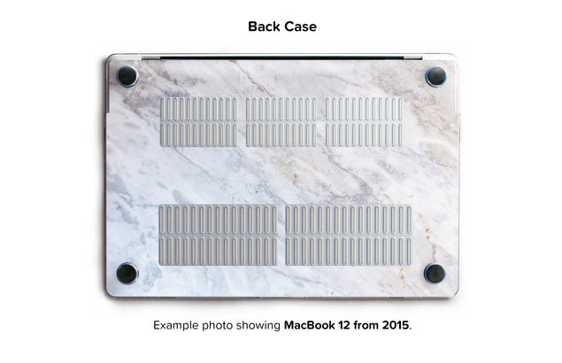 Subtle Marble From Monopoli Hard Case for MacBook 12 - back/bottom case