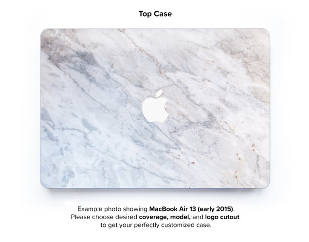 Subtle Marble From Monopoli Hard Case for MacBook Air 13 - top case