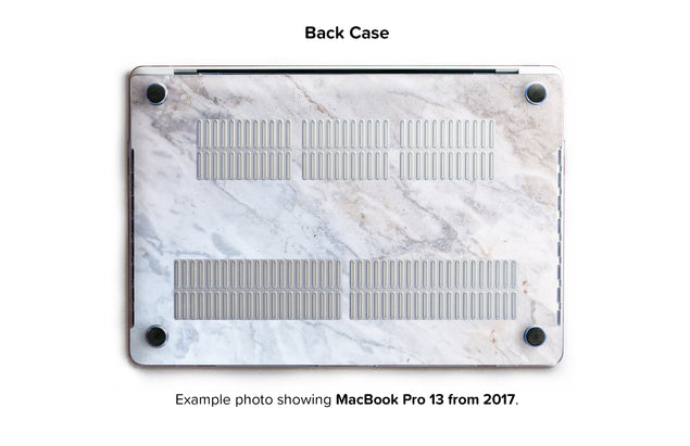 Subtle Marble From Monopoli Hard Case for MacBook Pro 13 without TouchBar - back/bottom case