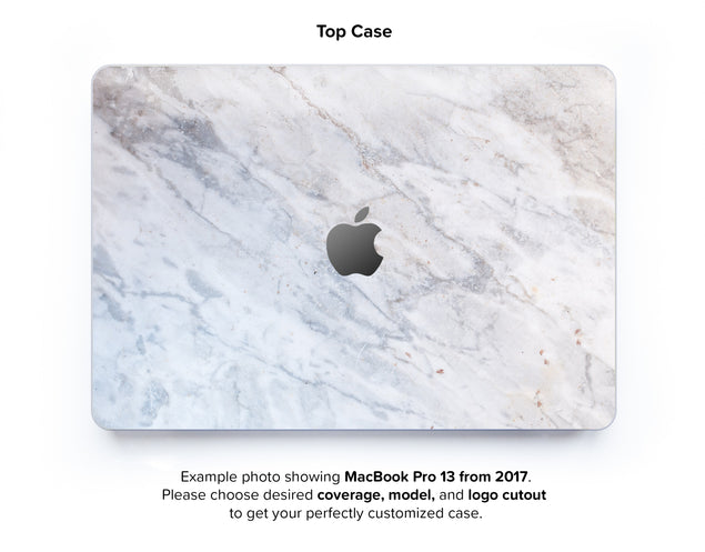 Subtle Marble From Monopoli Hard Case for MacBook Pro 13 with TouchBar - top case