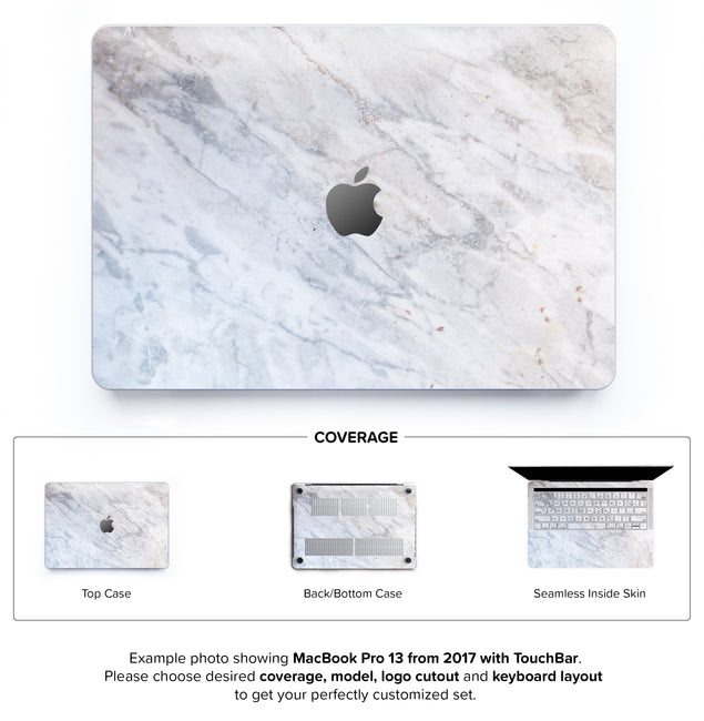 Subtle Marble From Monopoli Hard Case for MacBook Pro 13 with TouchBar