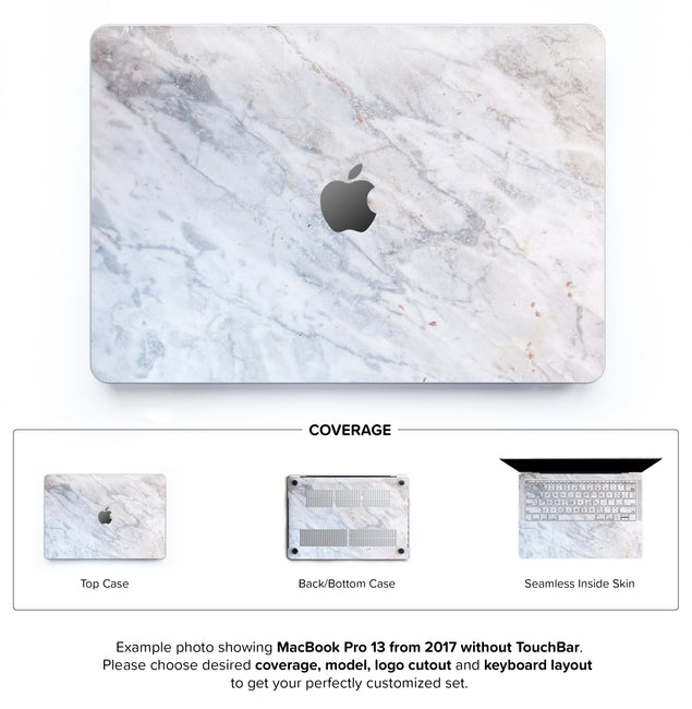 Subtle Marble From Monopoli Hard Case for MacBook Pro 13 without TouchBar