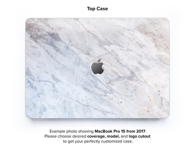 Subtle Marble From Monopoli Hard Case for MacBook Pro 15 with TouchBar - top case