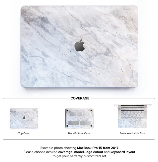Subtle Marble From Monopoli Hard Case for MacBook Pro 15 with TouchBar