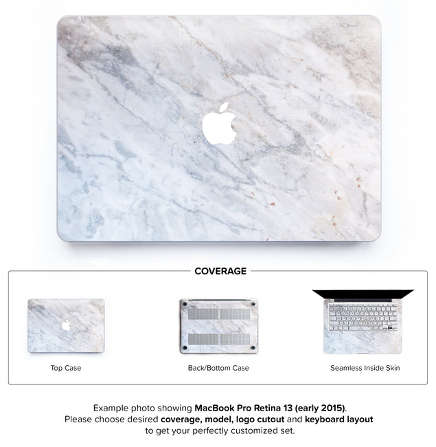 Subtle Marble From Monopoli Hard Case for MacBook Pro Retina 13