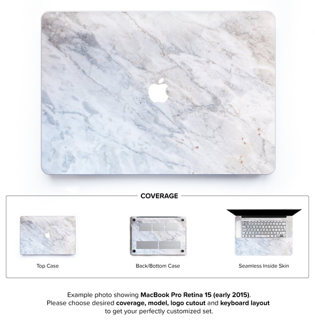Subtle Marble From Monopoli Hard Case for MacBook Pro Retina 15
