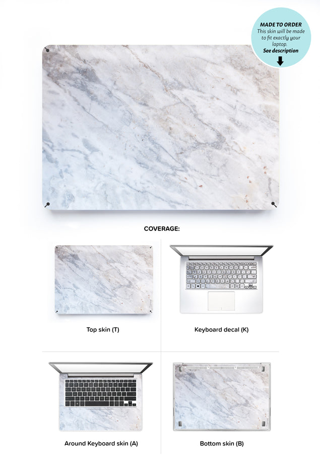 Subtle Marble From Monopoli Laptop Skin