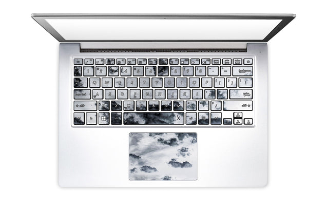 Taupe Clouds Laptop Keyboard Stickers