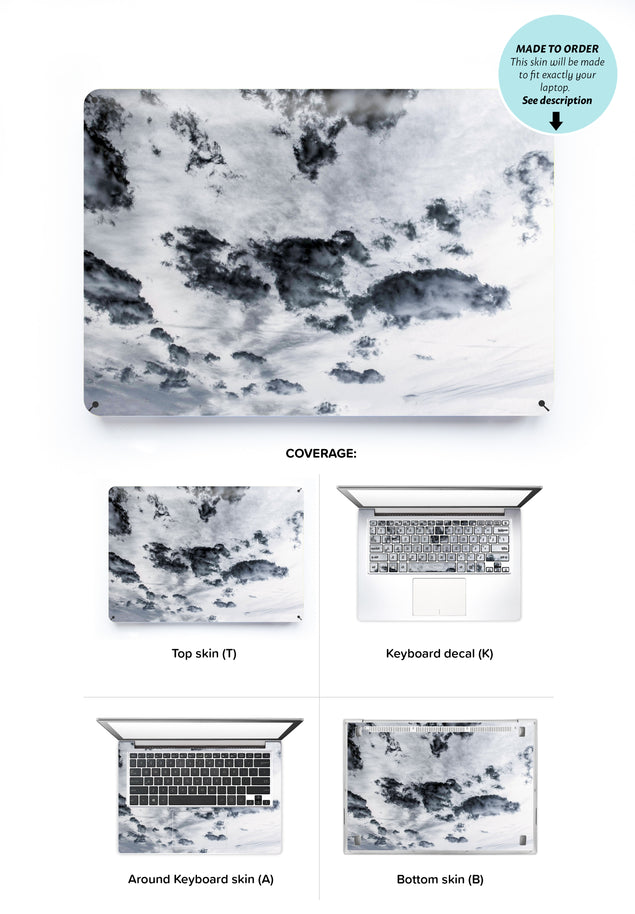 Taupe Clouds Laptop Skin