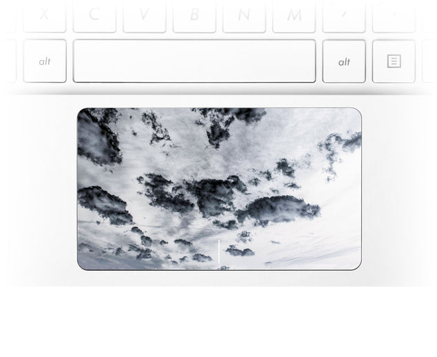 Taupe Clouds Laptop Trackpad Sticker