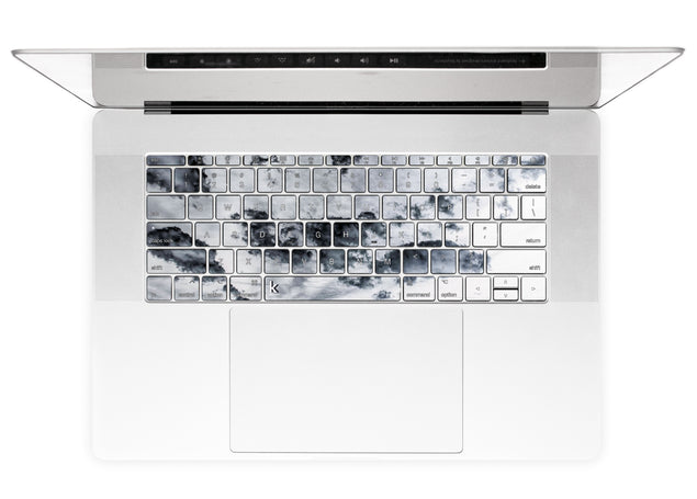 Taupe Clouds MacBook Keyboard Stickers alternate