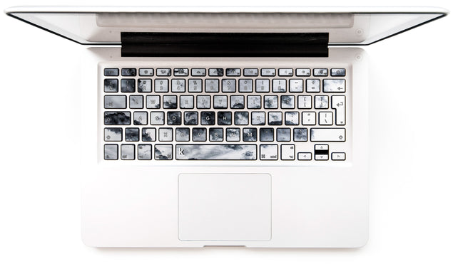 Taupe Clouds MacBook Keyboard Stickers
