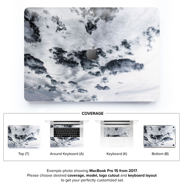 Taupe Clouds MacBook Skin