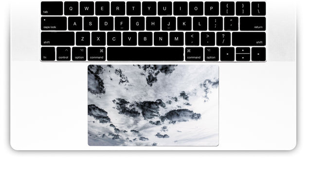 Taupe Clouds MacBook Trackpad Sticker