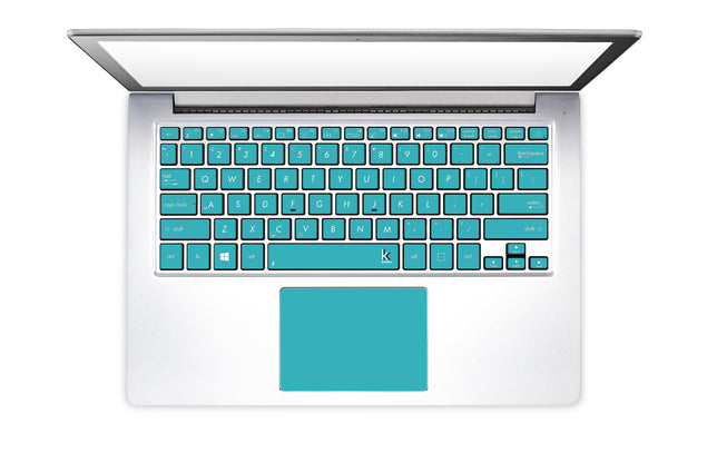 Teal Night Laptop Keyboard Stickers