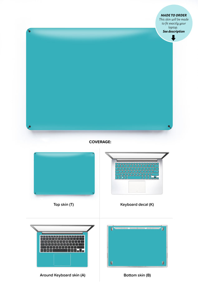 Teal Night Laptop Skin