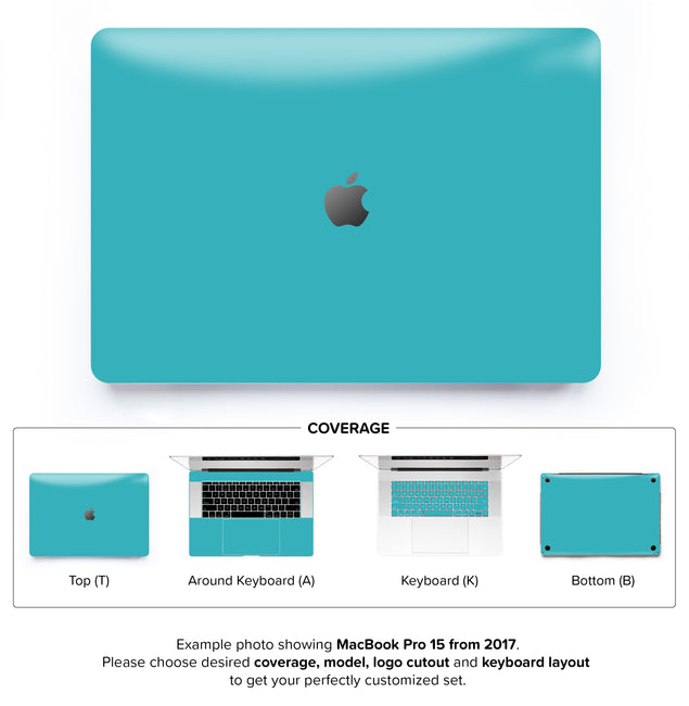 Teal Night MacBook Skin