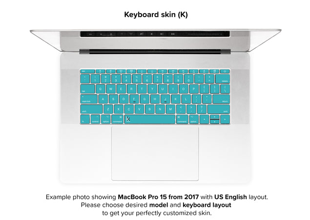 Teal Night MacBook Skin - keyboard stickers