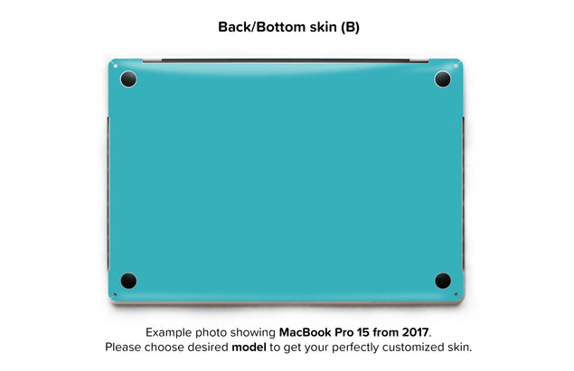 Teal Night MacBook Skin - back skin
