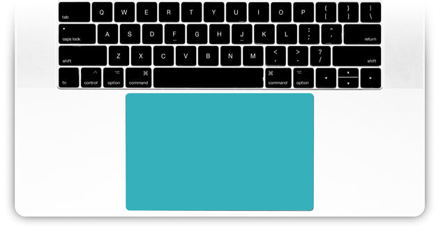 Teal Night MacBook Trackpad Sticker